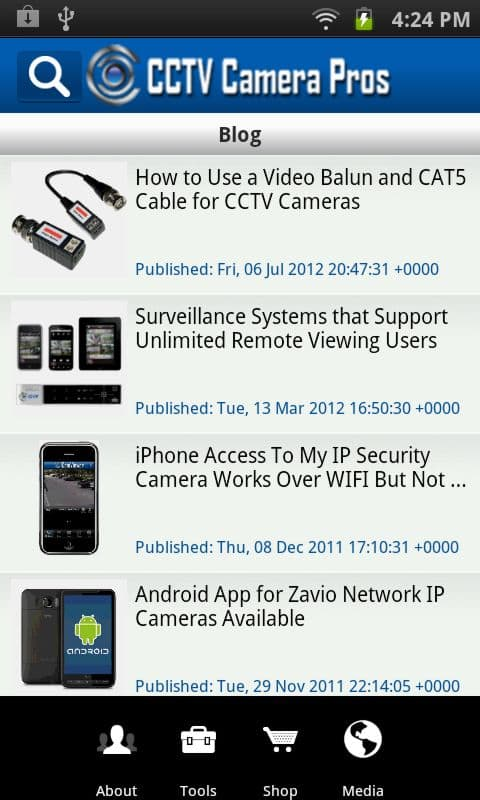 Android App CCTV Blog