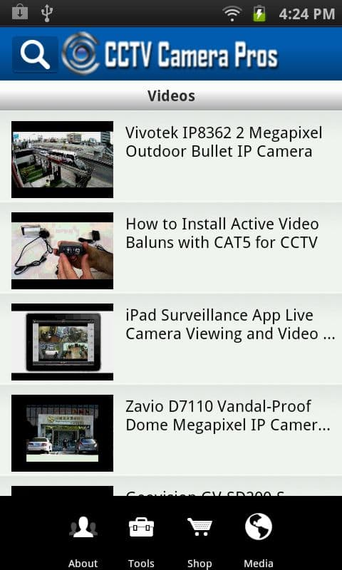 Android App Surveillance Videos