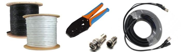 Câble coaxial CCTV siamois RG-59