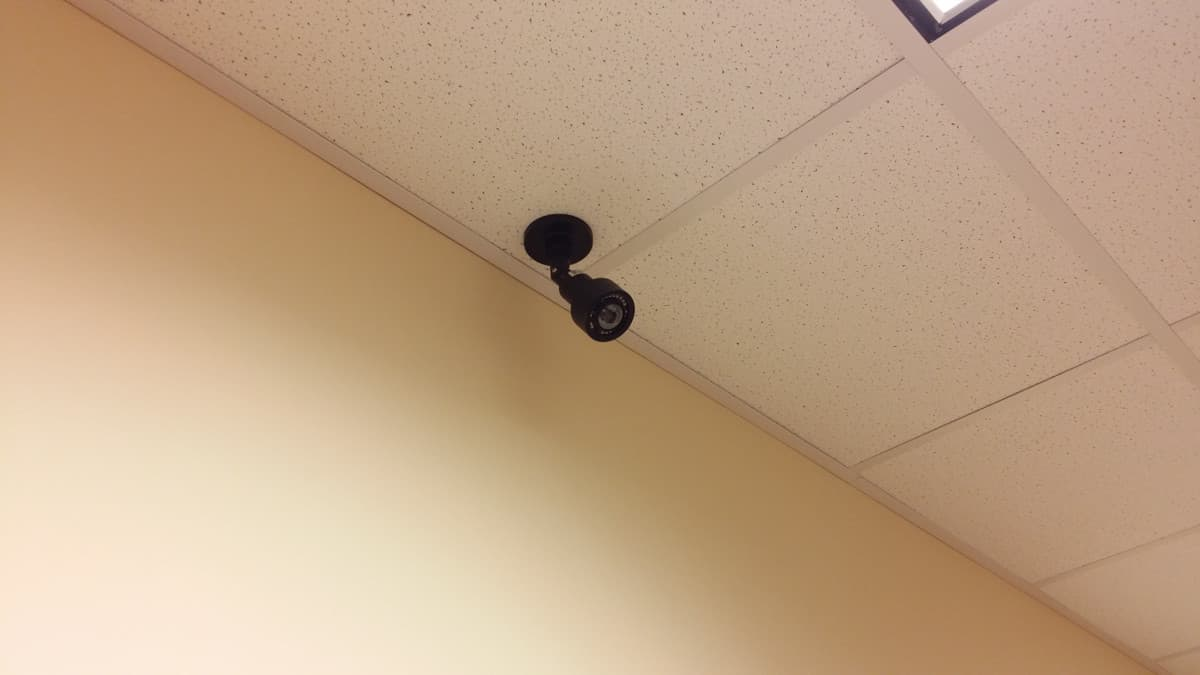 wide angle HD CCTV camera ceiling mount