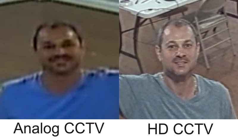 Analog CCTV vs 1080p HD CCTV
