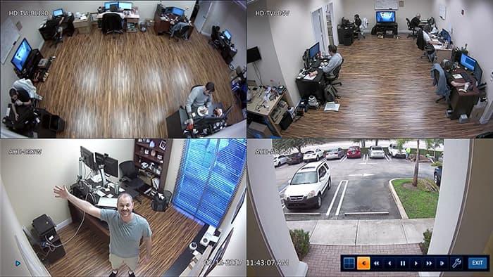 1080p HD Security Cameras - 4 Camera View on iDVR-PRO Surveillance DVR