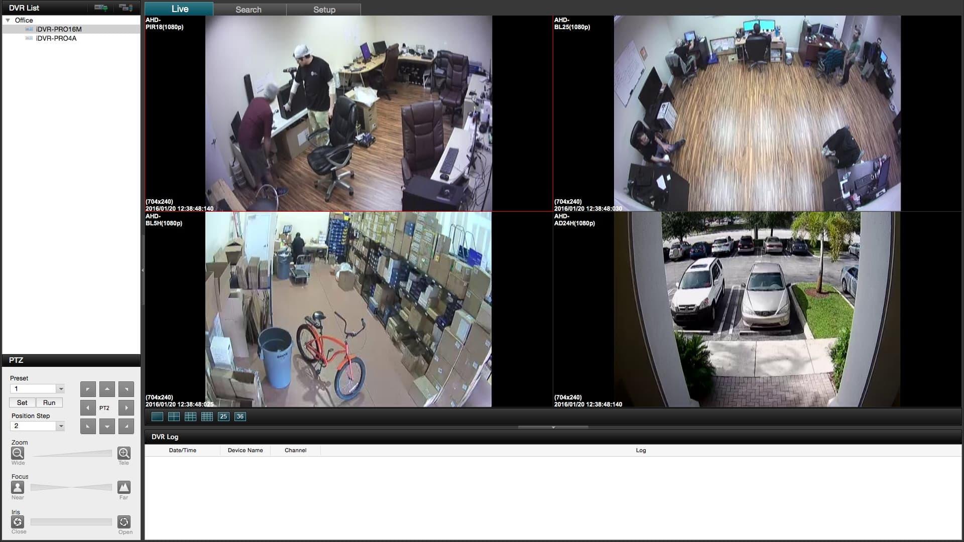 Mac Surveillance DVR Software 4 Camera View