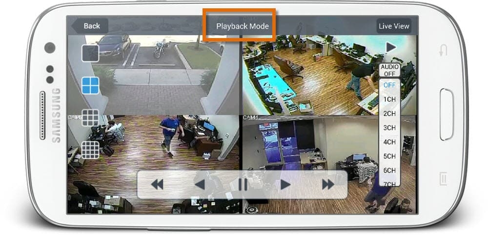 Android App Recorded Audio Surveillance Remote Playback from DVR