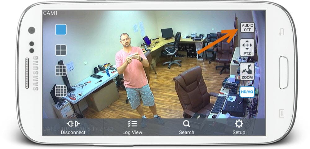 Android CCTV App with Live Audio Surveillance
