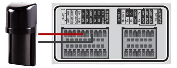 photoelectric beam sensor trigger a cctv dvr alarm