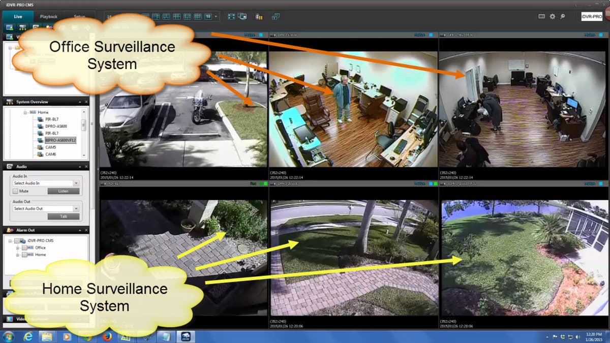 How To View Security Cameras From Multiple Dvrs On One