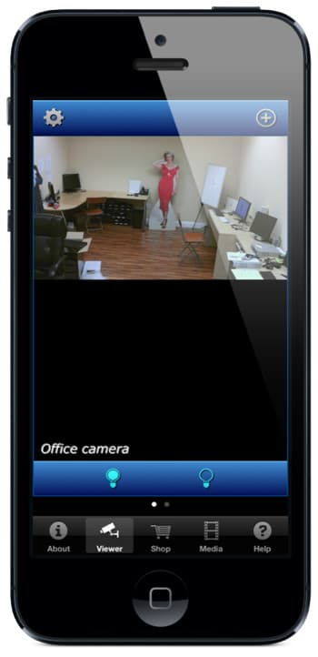 iPhone App IP Camera Output Controls