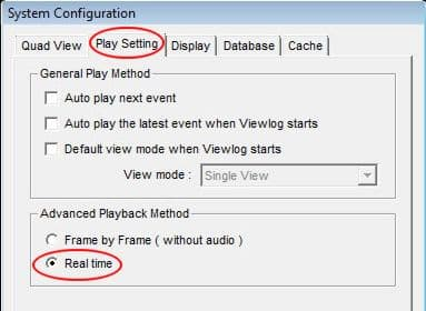Geovision Enable Audio Playback