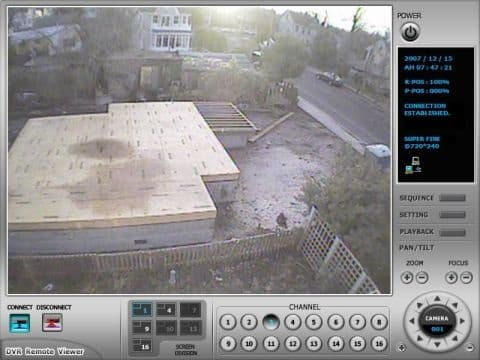 Construction Security Camera View