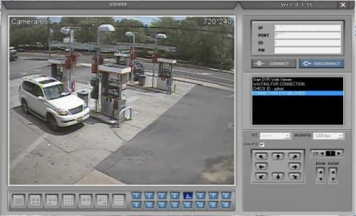 Gas Station Pump Island Camera