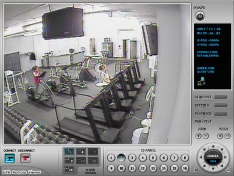 Gym Surveillance System Internet Dvr Viewer