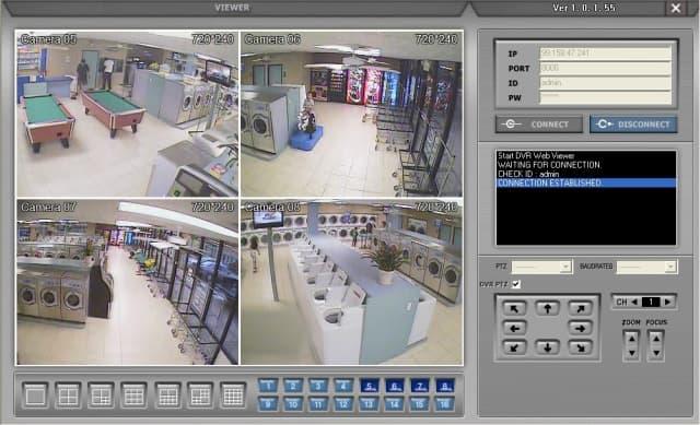 8 Camera DVR View