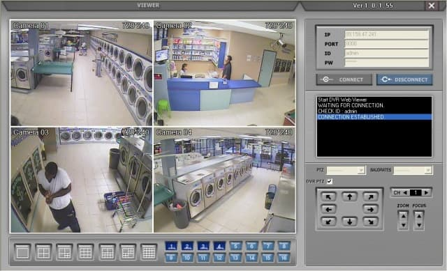 Surveillance System 4 Camera View