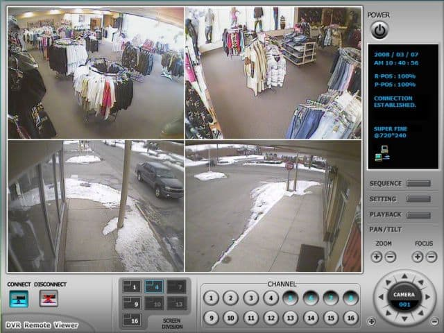 Indoor camera security system