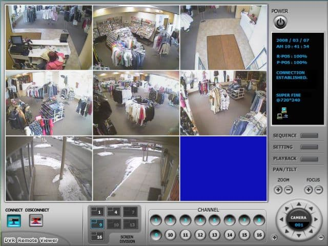 Retail surveillance system remote dvr viewer for Security camera placement software