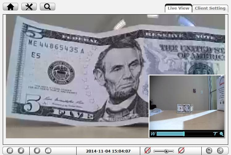IP Security Camera Zoom Currency Amount