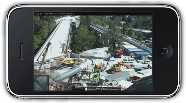IP Camera iPhone App Remote Monitoring Construction