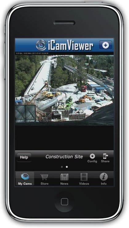 iPhone App Monitoring Construction Site