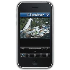 IP Camera iPhone App Monitoring Construction