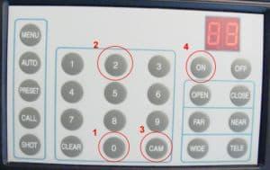PTZ Controller Connect Camera