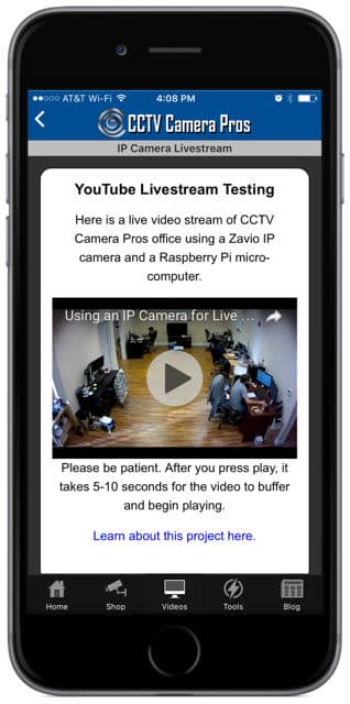 YouTube Livestream Video Embed iPhone App