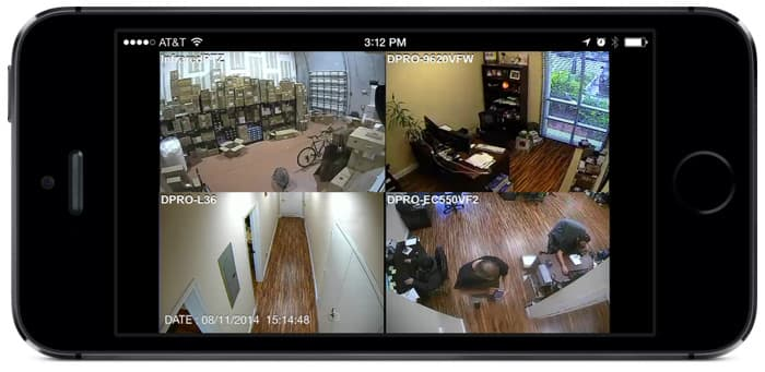 Remote Security Camera View Mobile App