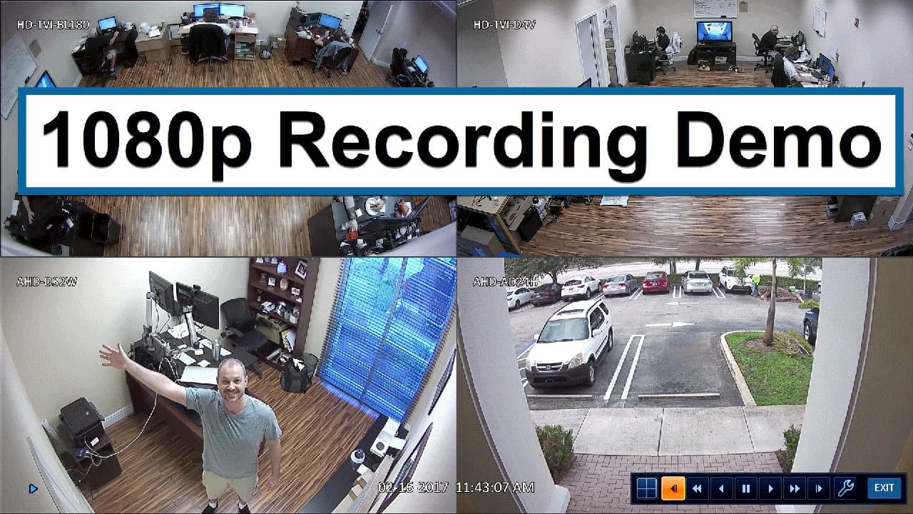 1080p video surveillance recording