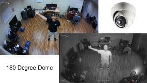 180 Degree Dome Security Camera with Infrared