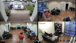 4 camera view 960H CCTV DVR