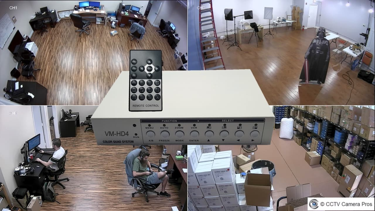 4 channel cctv multiplexer