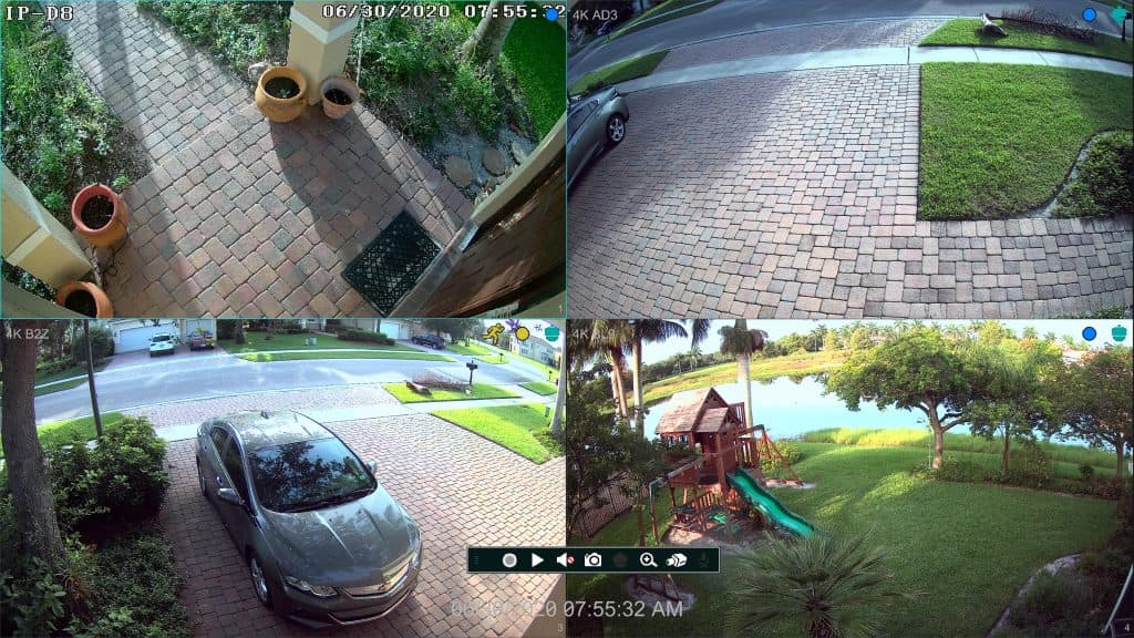 4K Security Camera View