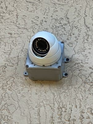 4K dome camera installation