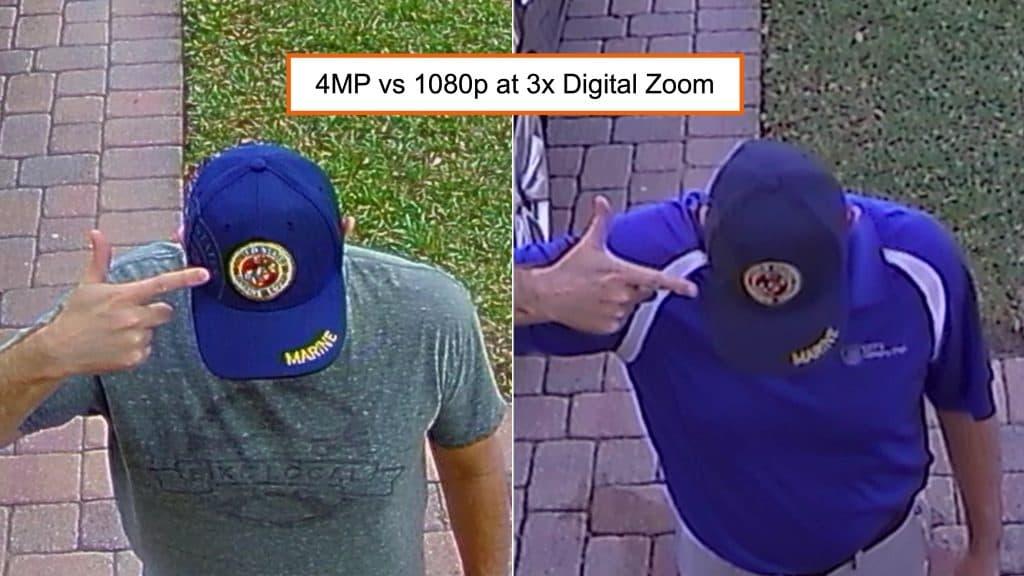 4mp vs 1080p Security Camera