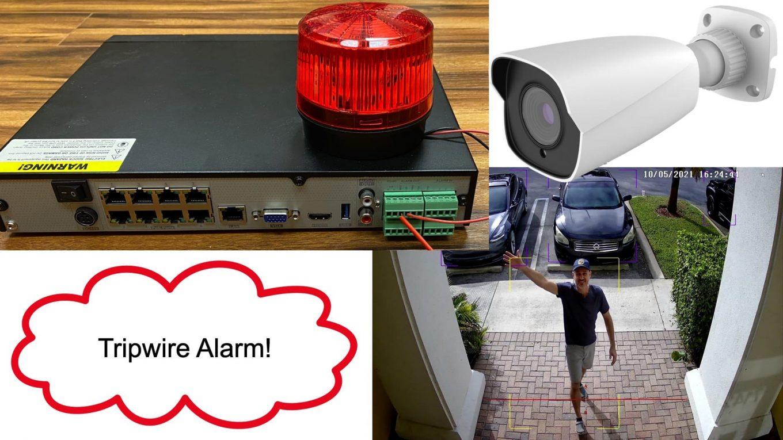 AI Security Camera System Alarm Output