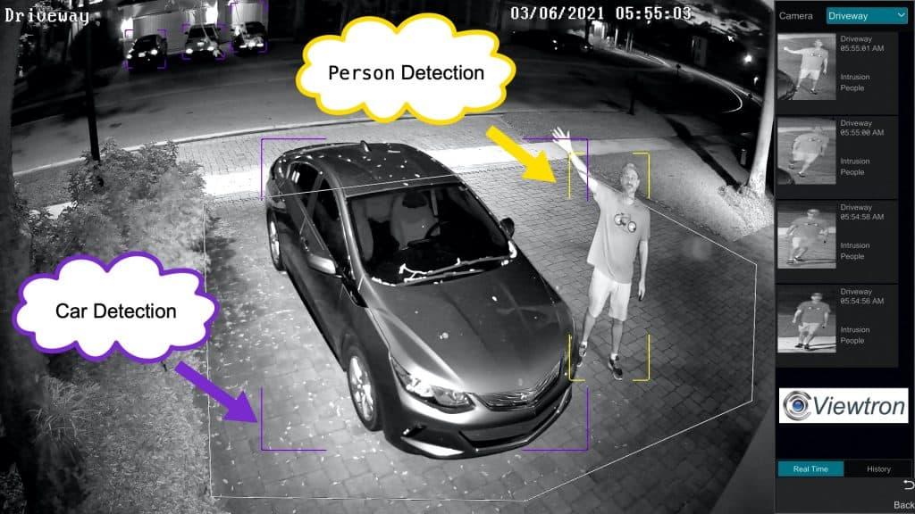 AI camera person detection