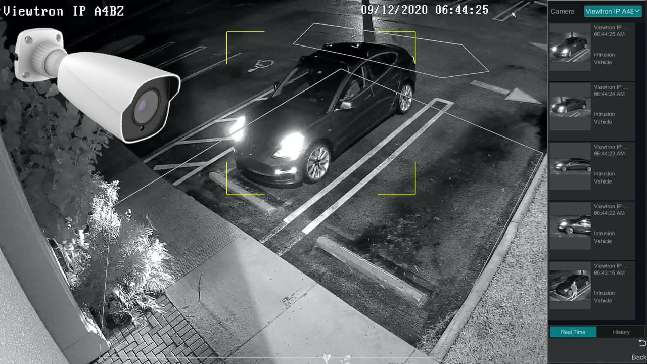 AI security camera car detection