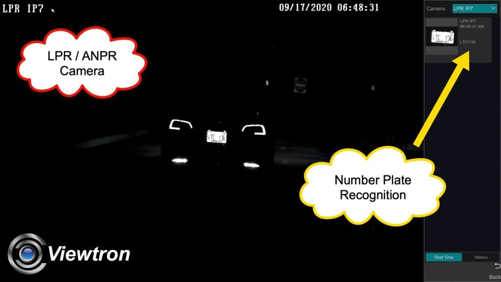 ANPR camera night