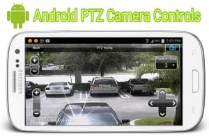 Android App PTZ Camera Controls