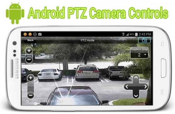 Android CCTV App with PTZ Camera Controls