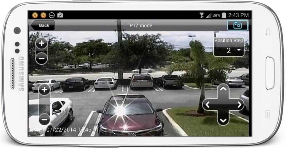 Android App PTZ Controls