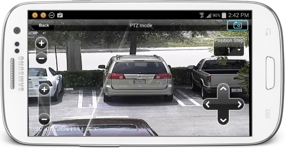 Android App Surveillance DVR PTZ Controls