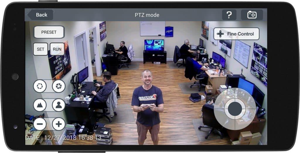 Android CCTV App PTZ Camera Control