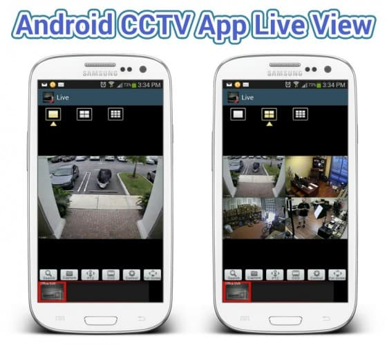 Android CCTV Camera App Live View