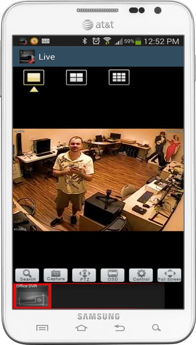 Android CCTV Camera App Viewer