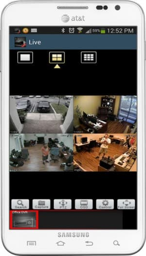 Android DVR Viewer App 4 CCTV Cameras