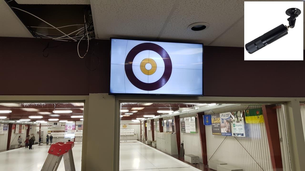 CCTV Camera Display Curling Sheet