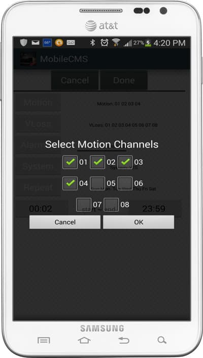CCTV Push Notification Messages to Android DVR Viewer App