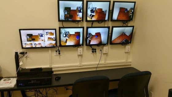 CCTV Camera System Monitoring Station