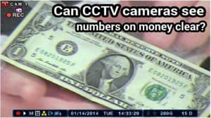 CCTV Camera Zoom Money